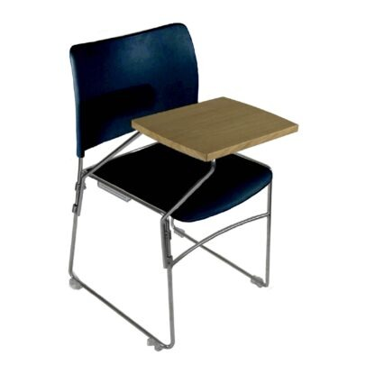 The Blaze writing tablet accessory pictured on a blue chair