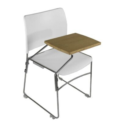 The Blaze writing tablet accessory pictured on a white chair