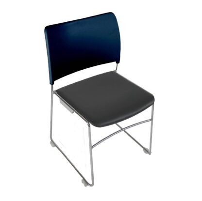 The Blaze Leather chair in blue