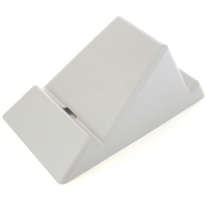 The Standii phone and tablet stand in cool white