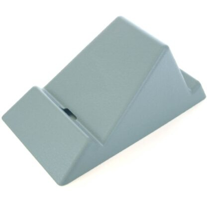 The Standii phone and tablet stand in sky blue