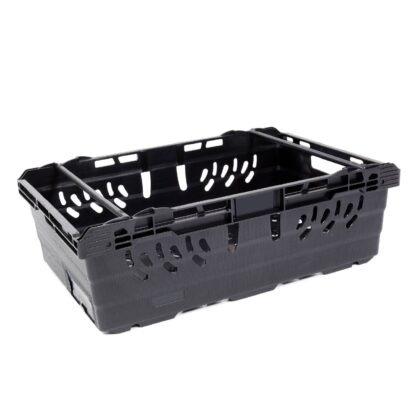 A single MultiNest 190 plastic crate in black