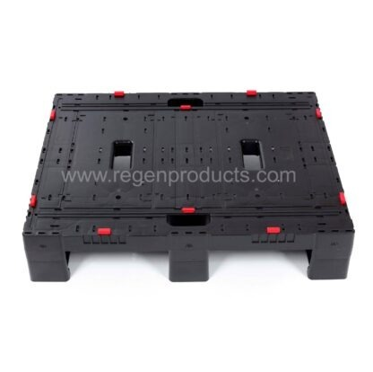A single Regen plastic pallet pictured from the long side