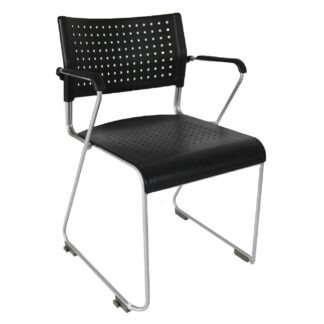 The Public stackable armchair pictured from the front