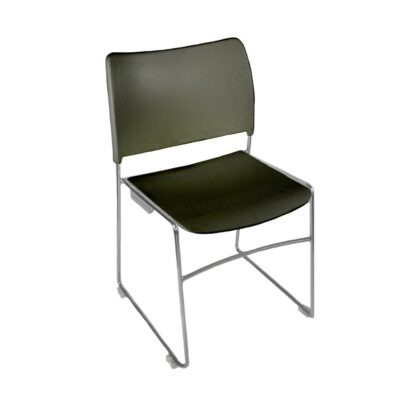 The Blaze stacking chair in black
