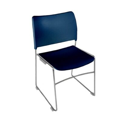 The Blaze stacking chair in blue