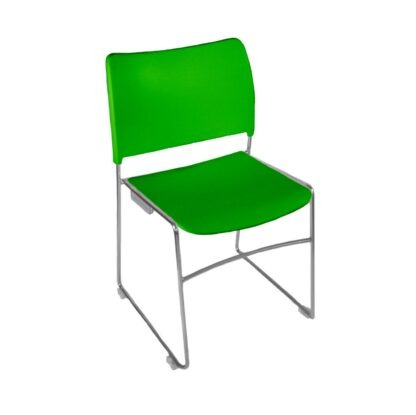 The Blaze stacking chair in green