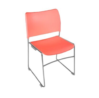 The Blaze stacking chair in red