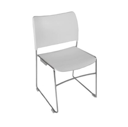 The Blaze stacking chair in white