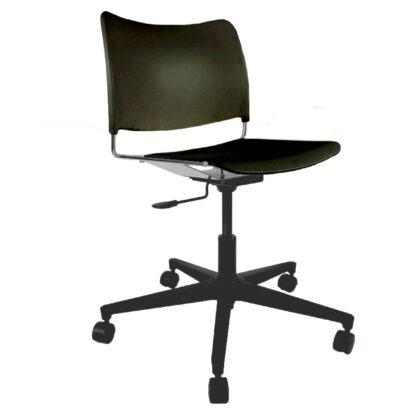 The Blaze swivel chair in black