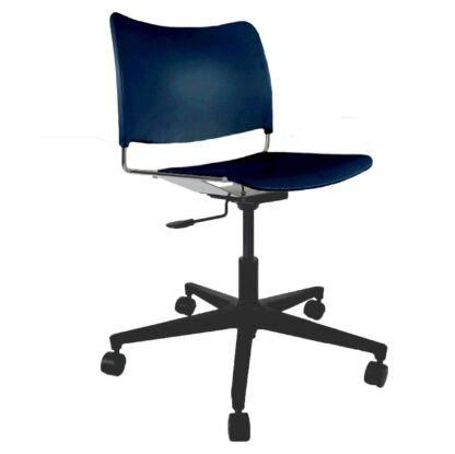The Blaze swivel chair in blue