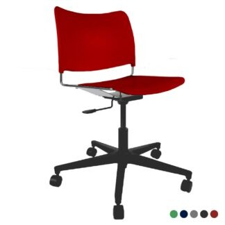 The Blaze swivel chair in red