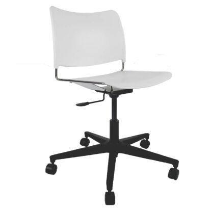 The Blaze swivel chair in white