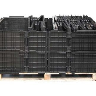4 collapsed Regen Extended pallet collars nested inside a single base unit